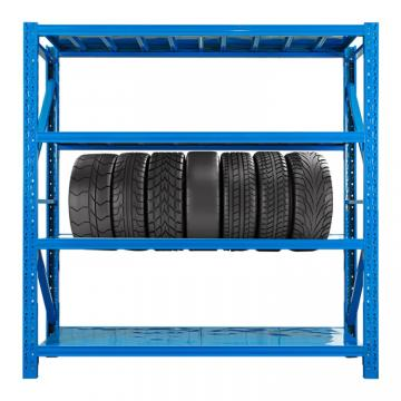 Iron shelves assembled in stock, easy to assemble, good quality, low cost for medium warehouse