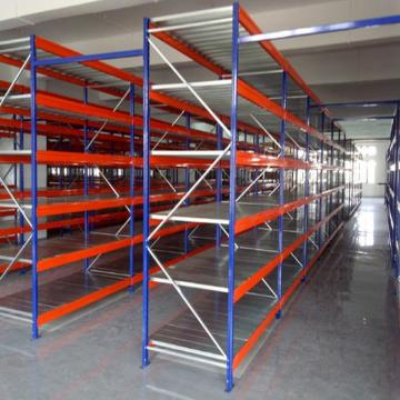High Quality Low Price Laminate Industrial Steel Composite Wood Shelving for supermarket display