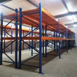 Adjustable warehouse pallet storage scantilever racking system